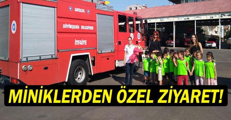 Minikler Itfaiyeciler Haftasi Ni Kutladi Antalya Kresleri